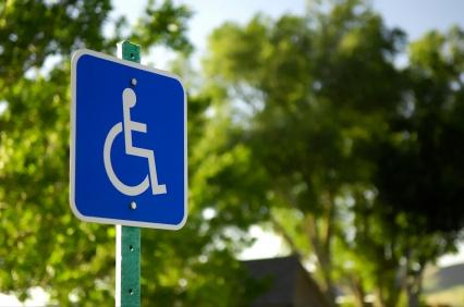 Handicap sign for parking lot
